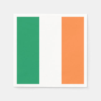 Irish Flag: Tricolor Saint Patrick's Day Party Paper Napkin