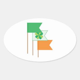 Irish Flags Oval Sticker