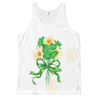 IRISH FLOWERS  All Over Printed Unisex Tank
