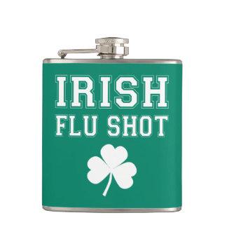 Irish Flu Shot St. Patrick's Day Hip Flask
