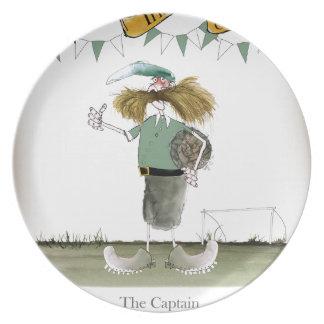 irish football captain plate