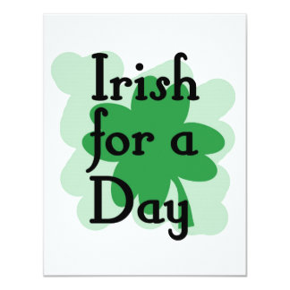 Irish for a day custom announcement
