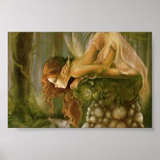 Irish forest elf poster