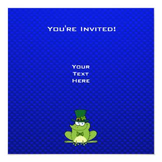 Irish Frog; Blue 13 Cm X 13 Cm Square Invitation Card