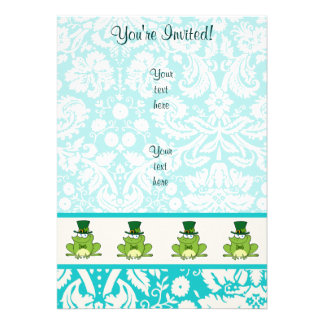 Irish Frog; Cute Personalized Announcement