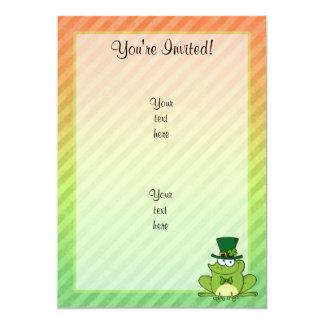 Irish Frog Design 13 Cm X 18 Cm Invitation Card