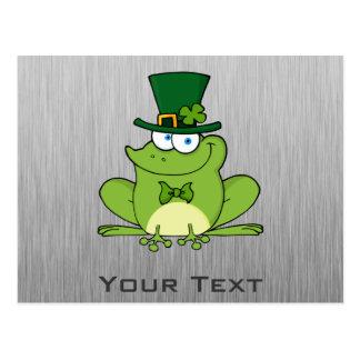 Irish Frog; Metal-look Postcard
