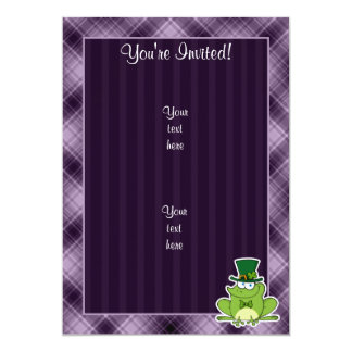 Irish Frog; Purple 13 Cm X 18 Cm Invitation Card