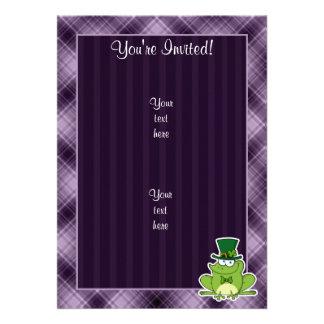 Irish Frog; Purple Personalized Invite