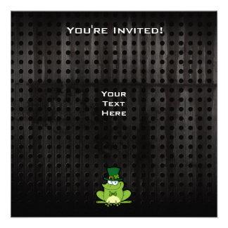 Irish Frog; Rugged Custom Invitations