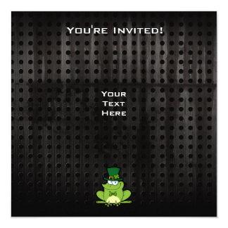 "Irish Frog; Rugged 5.25"" Square Invitation Card"