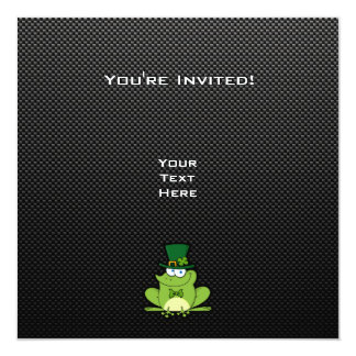 Irish Frog; Sleek 13 Cm X 13 Cm Square Invitation Card
