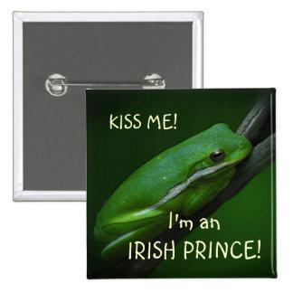 Irish Frog St. Patrick's Day Button