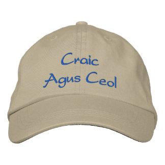 Irish Fun and Music Embroidered Hat