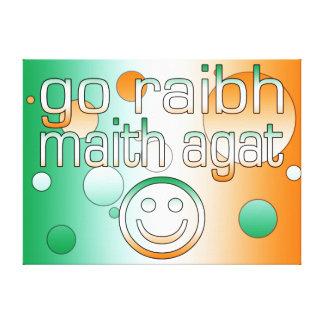 Irish Gaelic Gifts Thank You / Go Raibh Maith Agat Gallery Wrap Canvas
