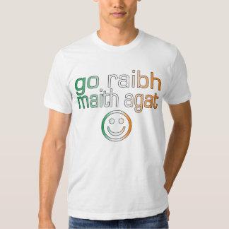Irish Gaelic Gifts Thank You / Go Raibh Maith Agat T-shirts