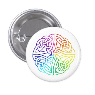 Irish Gay & Lesbian Pride Celtic Button