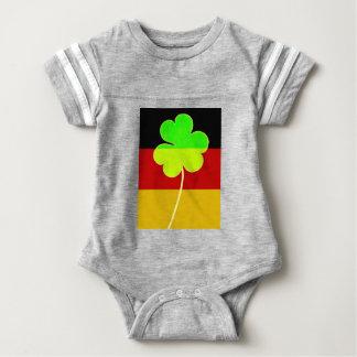 Irish German Flag Shamrock Clover St. Patrick Baby Bodysuit