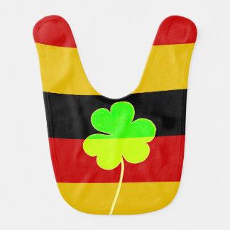 Irish German Flag Shamrock Clover St. Patrick Fun Bib