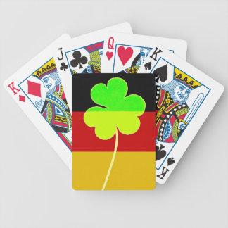 Irish German Flag Shamrock Clover St. Patrick Fun Bicycle Playing Cards