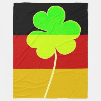 Irish German Flag Shamrock Clover St. Patrick Fun Fleece Blanket