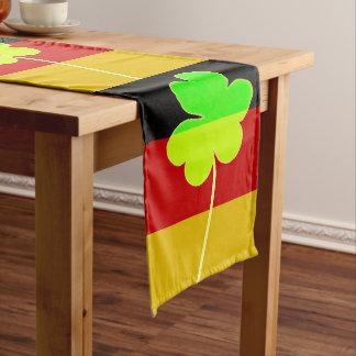 Irish German Flag Shamrock Clover St. Patrick Fun Long Table Runner