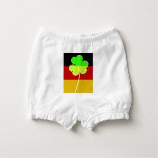 Irish German Flag Shamrock Clover St. Patrick Fun Nappy Cover