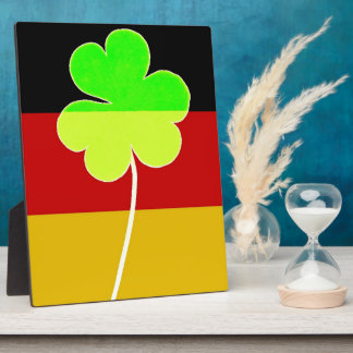 Irish German Flag Shamrock Clover St. Patrick Fun Plaque