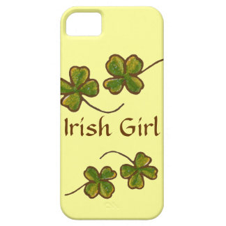 Irish Girl Clover Shamrocks iPhone Case Barely There iPhone 5 Case