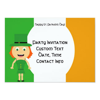 Irish Girl Invitation