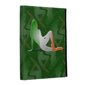 Irish Girl Silhouette Flag iPad Folio Covers