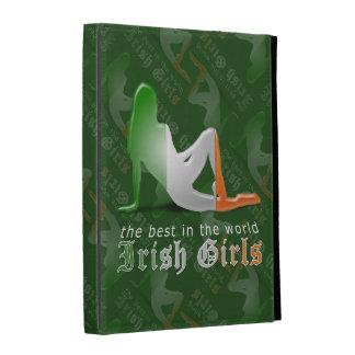 Irish Girl Silhouette Flag iPad Folio Cover