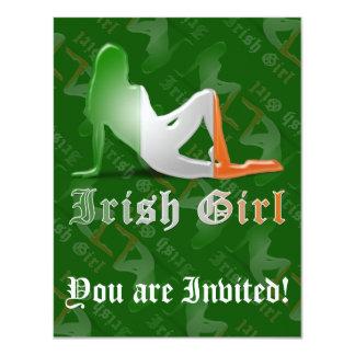 "Irish Girl Silhouette Flag 4.25"" X 5.5"" Invitation Card"
