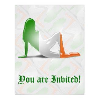 Irish Girl Silhouette Flag Invitation
