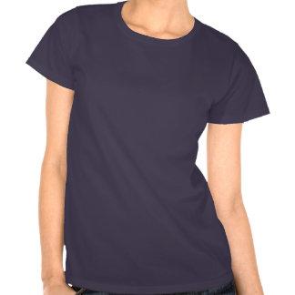 Irish Girl Silhouette Flag Tee Shirts