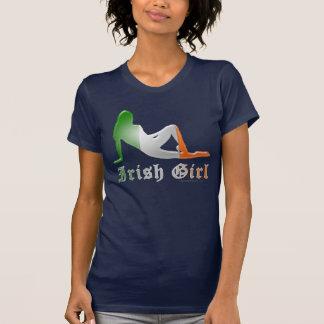 Irish Girl Silhouette Flag Shirt