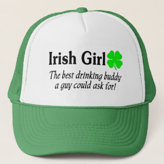 Irish Girl The Best Drinking Buddy A Guy Could Trucker Hat