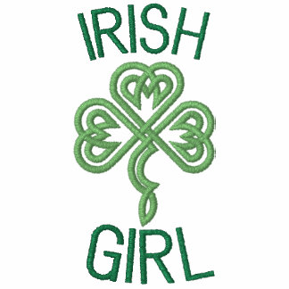 Irish Girl With Celtic Knot Hearts