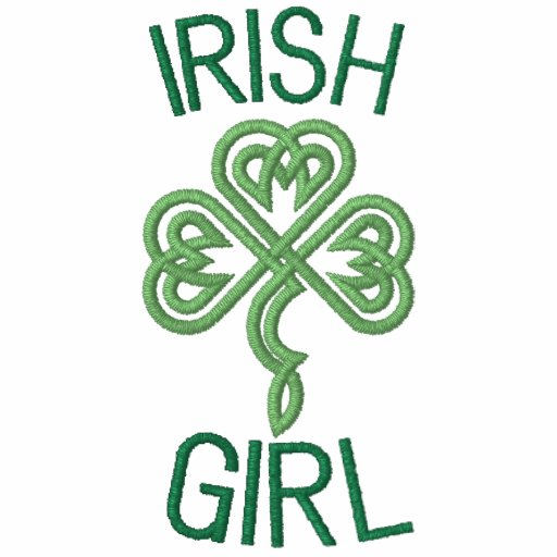 Irish Girl With Celtic Knot Hearts