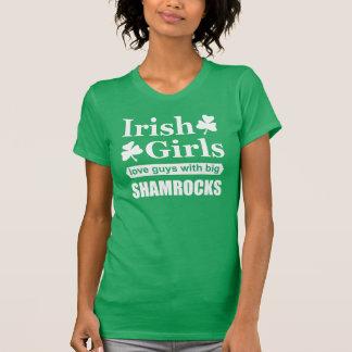 Irish Girls Love Big Shamrocks Funny T Shirts