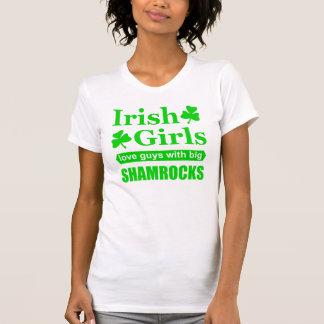 Irish Girls Love Guys With Big Shamrocks Funny Tshirt