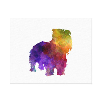 Irish Glen of Imaal Terrier in watercolor Canvas Print