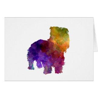 Irish Glen of Imaal Terrier in watercolor Card