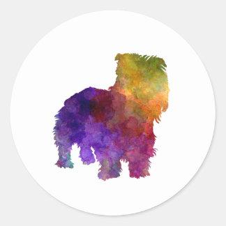 Irish Glen of Imaal Terrier in watercolor Round Sticker