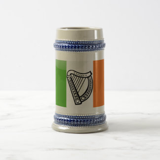 Irish glossy flag beer stein