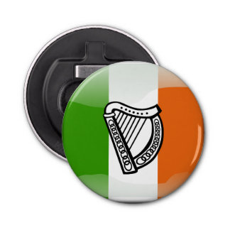 Irish glossy flag bottle opener
