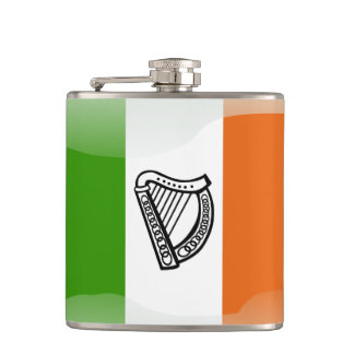 Irish glossy flag hip flask