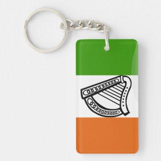 Irish glossy flag key ring