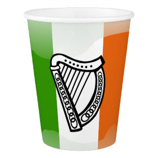 Irish glossy flag paper cup