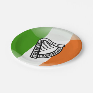 Irish glossy flag paper plate